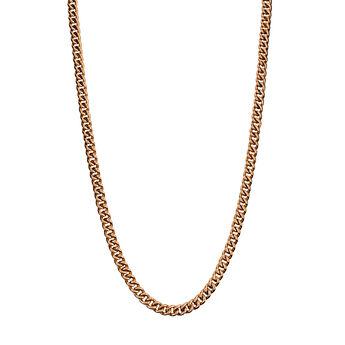Cadena barbada larga plata recubierta oro rosa, J00491-03-85, hi-res