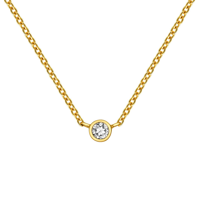 Cadena chatón topacio plata recubierta oro, J03435-02, hi-res