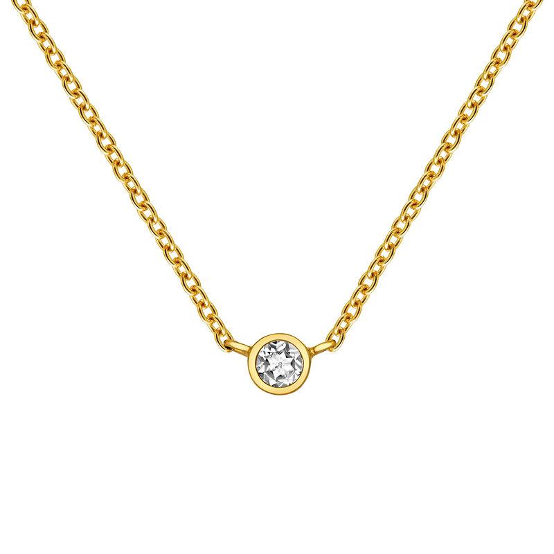 Gold chaton chain, J03435-02, hi-res