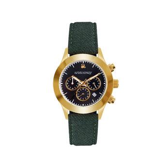 Soho watch green strap black face., W29A-YWYWBL-FAGE, hi-res