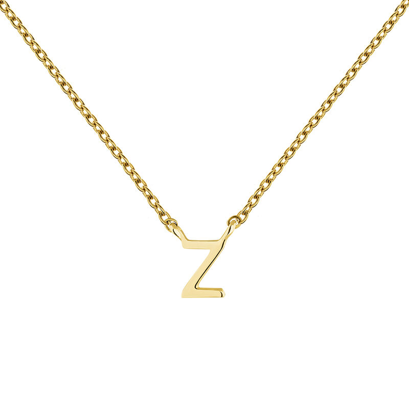 Collier initiale Z or, J04382-02-Z, hi-res