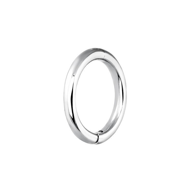 Pendiente piercing aro mediano oro blanco 9 kt, J03843-01-H, hi-res
