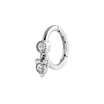 White gold triangle diamond piercing ring, J03911-01-H, hi-res