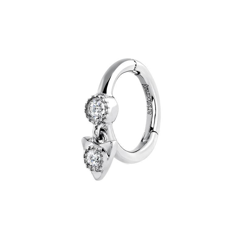 White Gold Triangle Diamond Piercing Ring 0 029 Ct Aristocrazy