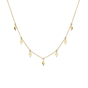 Gold necklace with rhombuses, J03868-02, hi-res