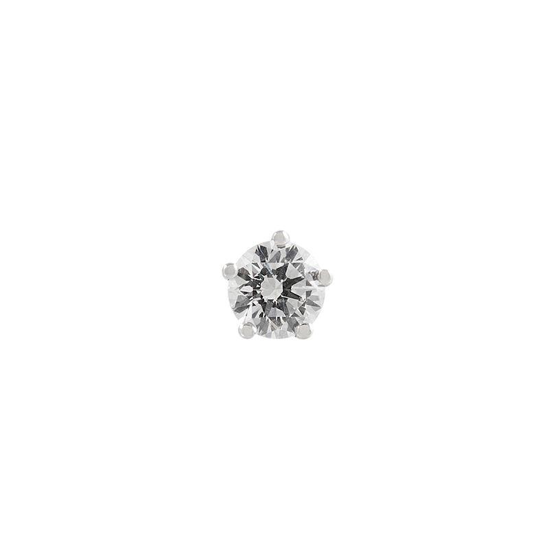 Pendiente solitario diamante 0,1 ct oro blanco, J00888-01-10-H, hi-res