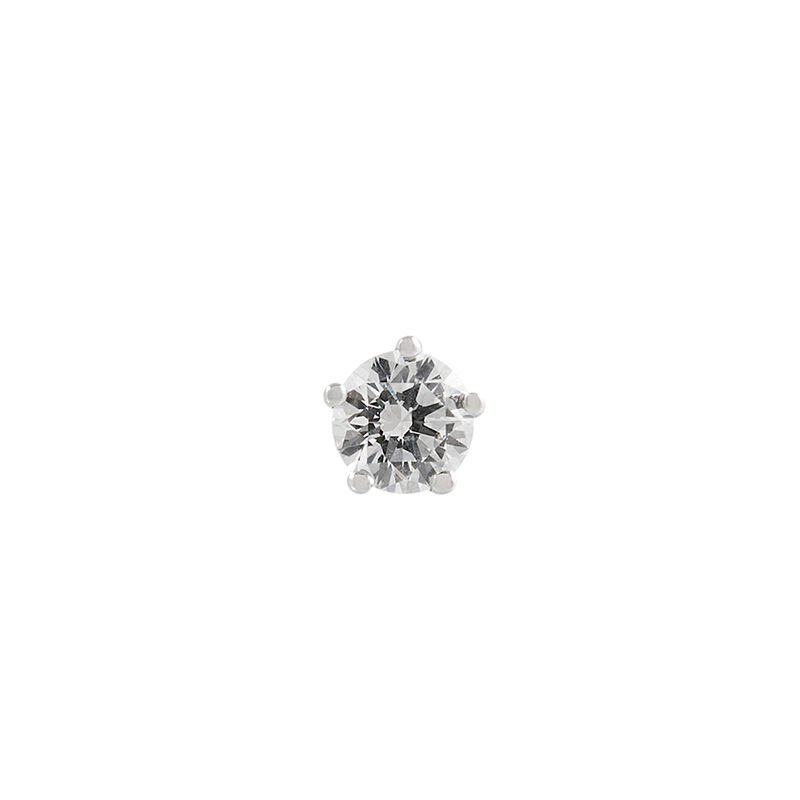 Pendiente solitario diamante 0,15 ct oro blanco, J00888-01-15-H, hi-res