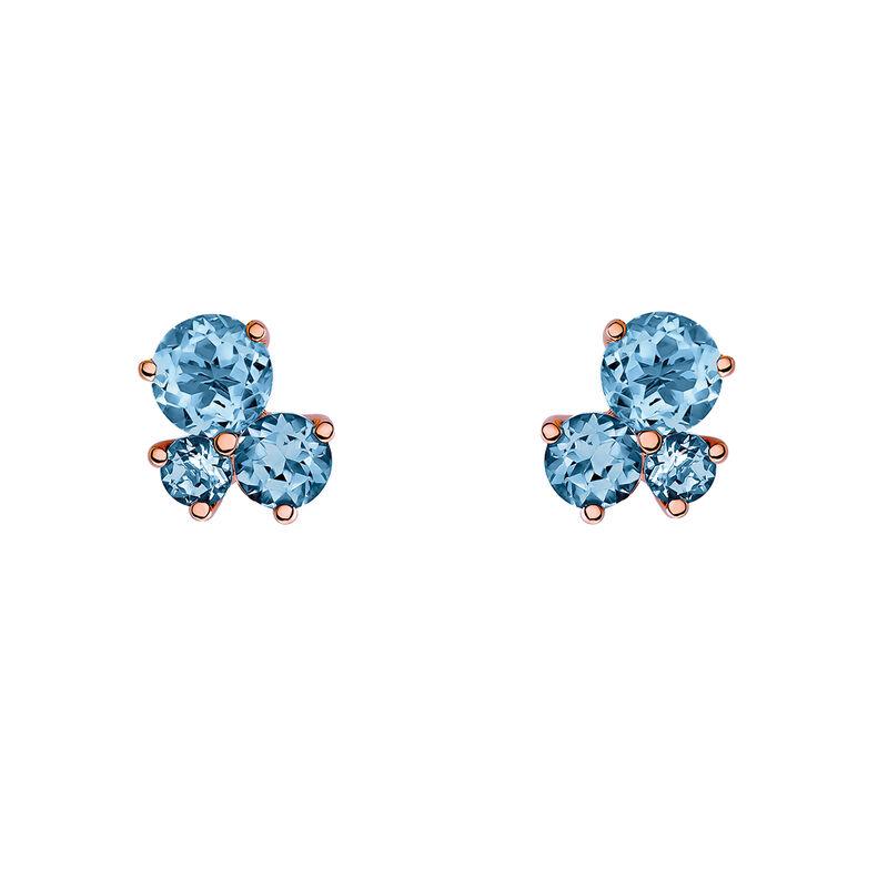 Pendientes tres piedras oro rosa, J03458-03-LB, hi-res