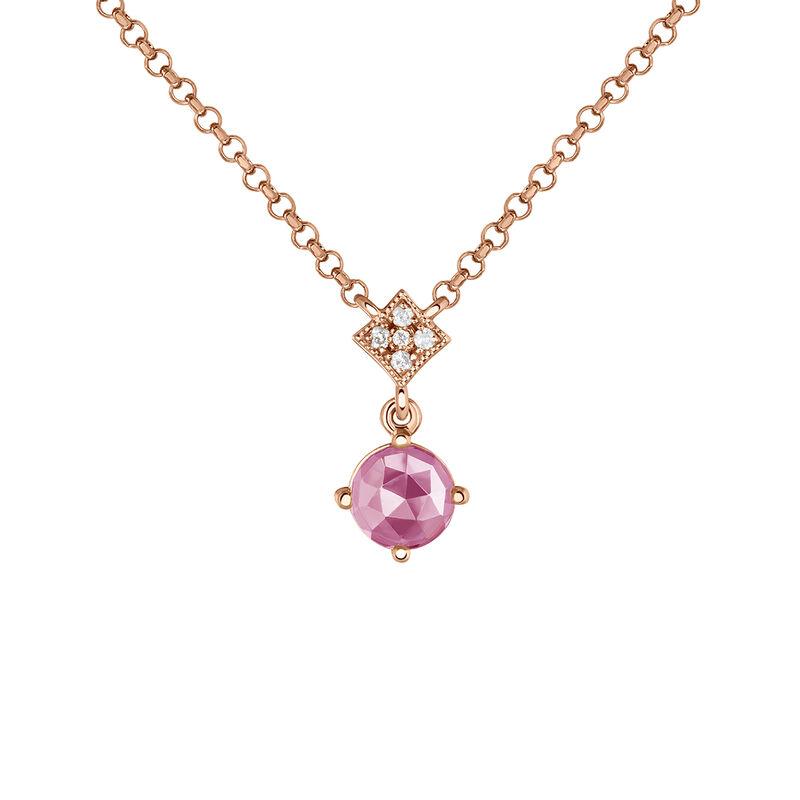 Colgante vintage piedra plata recubierta oro rosa, J03801-03-PS, hi-res