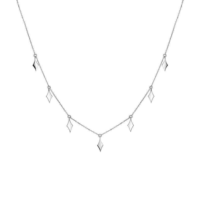 Rose gold rhombuses necklace, J03868-01, hi-res