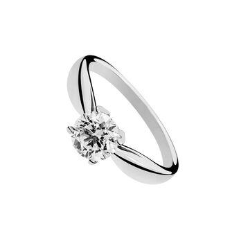 Gold solitaire diamond 4 prongs 0.25 ct, J00919-01-25-GVS, hi-res