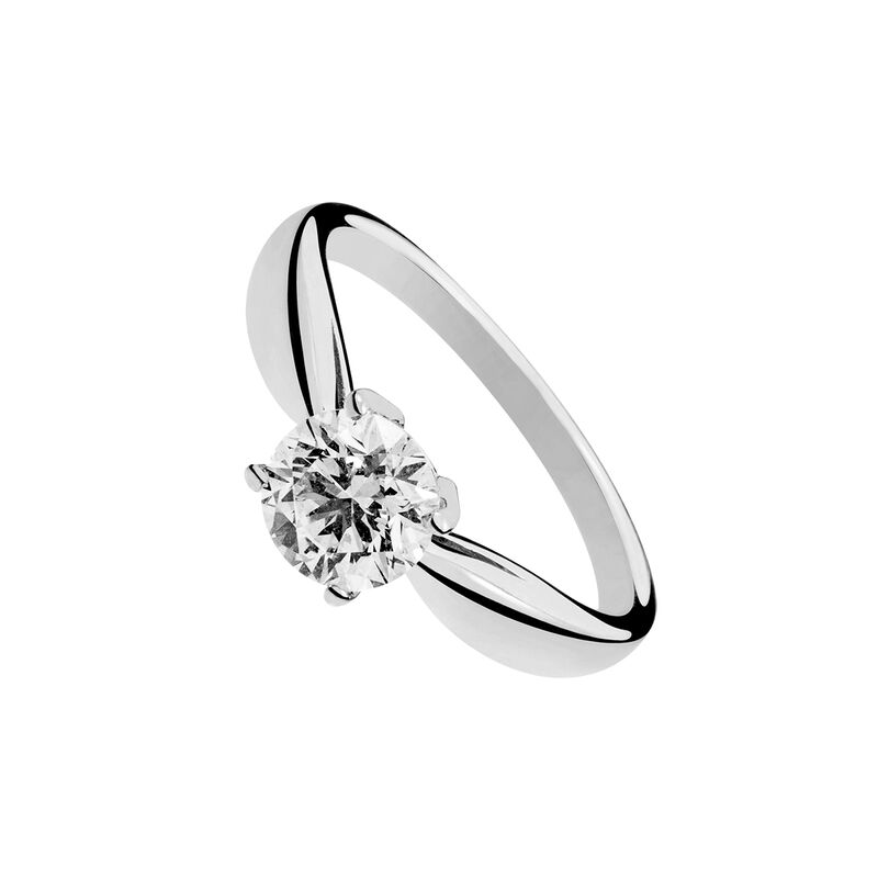 Gold solitaire diamond 4 prongs 0.25 ct, J00919-01-25-GVS, hi-res