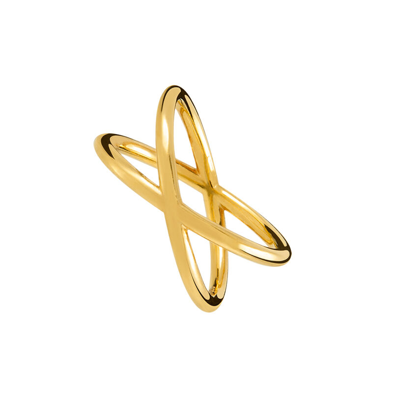 Gold cross thread ring, J01258-02, hi-res