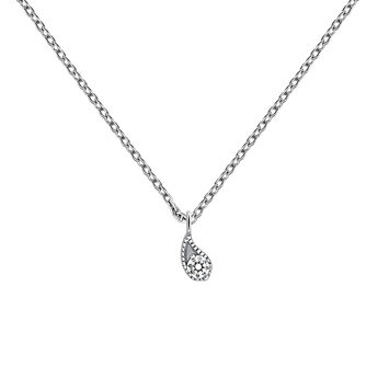 White gold diamond necklace 0.061 ct, J03397-01, hi-res