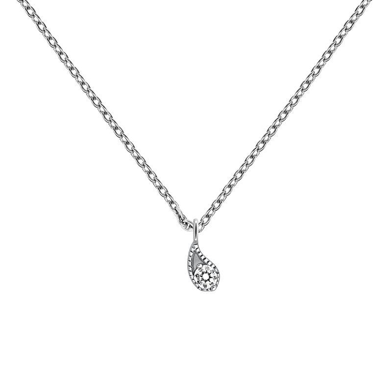 Colgante diamante oro blanco 0,061 ct, J03397-01, hi-res