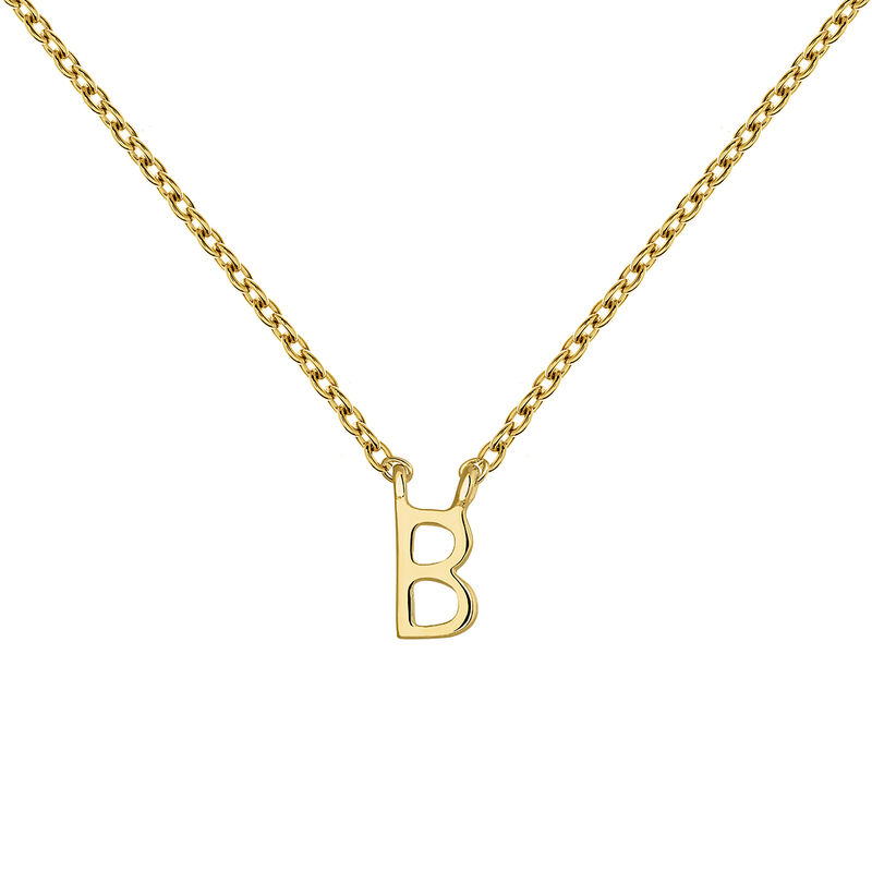 Collier initiale B or, J04382-02-B, hi-res