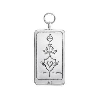 Silver L'Impératrice card pendant, J04040-01, hi-res