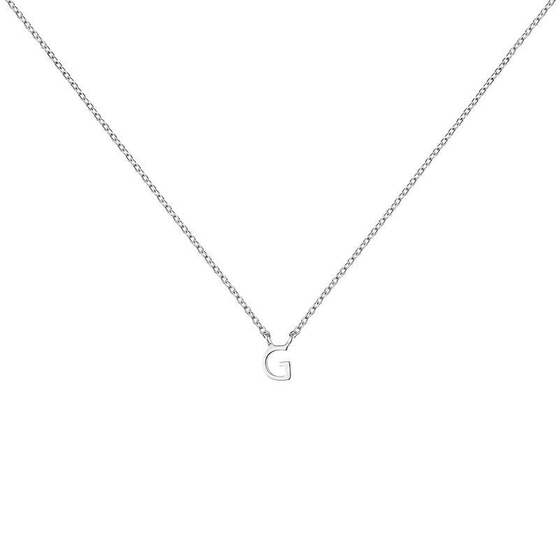 Collar inicial G oro blanco, J04382-01-G, hi-res