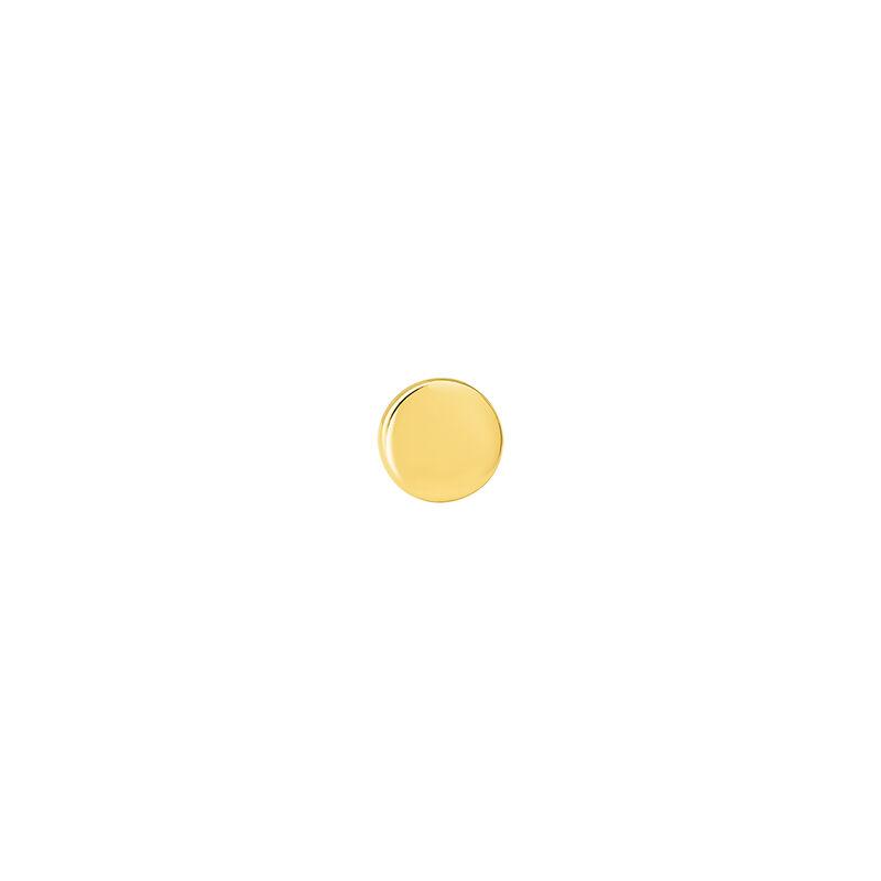 Small gold circle earring piercing, J04523-02-H, hi-res
