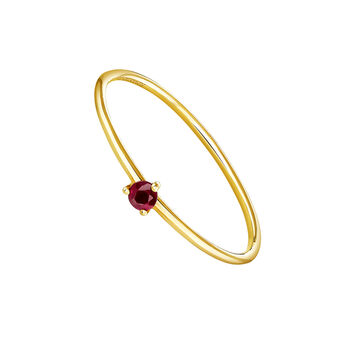 Solitaire ring ruby gold, J04068-02-RU, hi-res