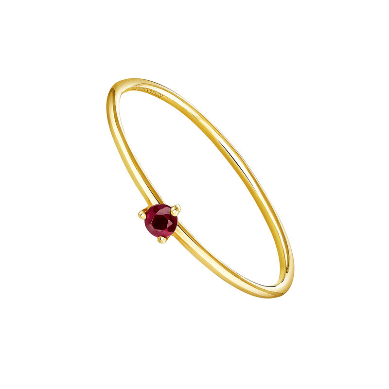 Bague solitaire rubis or, J04068-02-RU, hi-res