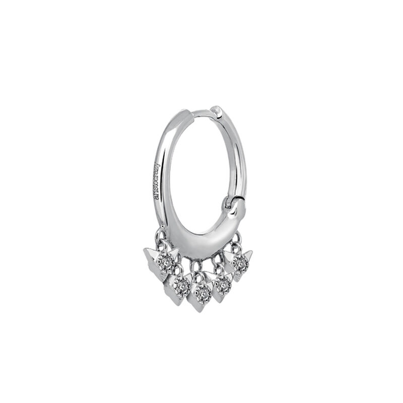 White gold hoop earring piercing ten diamonds 0.097 ct, J03388-01-H, hi-res