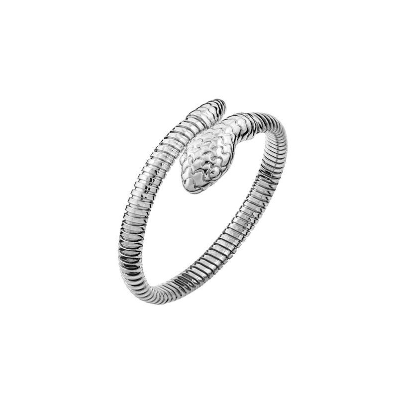 Silver tubogas snake thin bracelet, J00614-01-PQ, hi-res