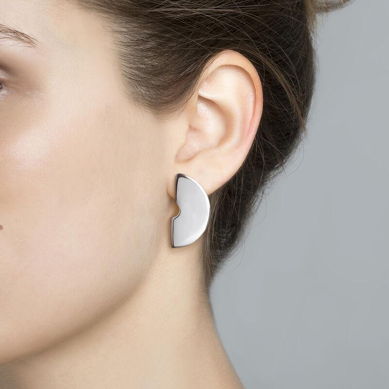 Large silver sculptural earrings, J03506-01, hi-res