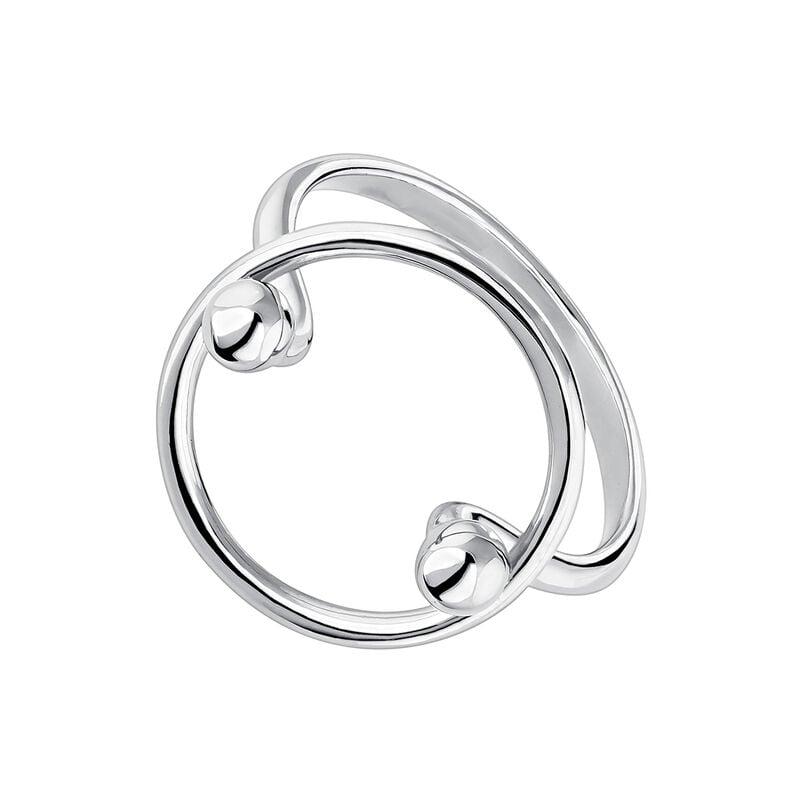 Anillo circulo bolas piercing plata, J04326-01, hi-res