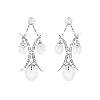 Silver half moon moonstone earrings, J04158-01-WMS-WT, hi-res