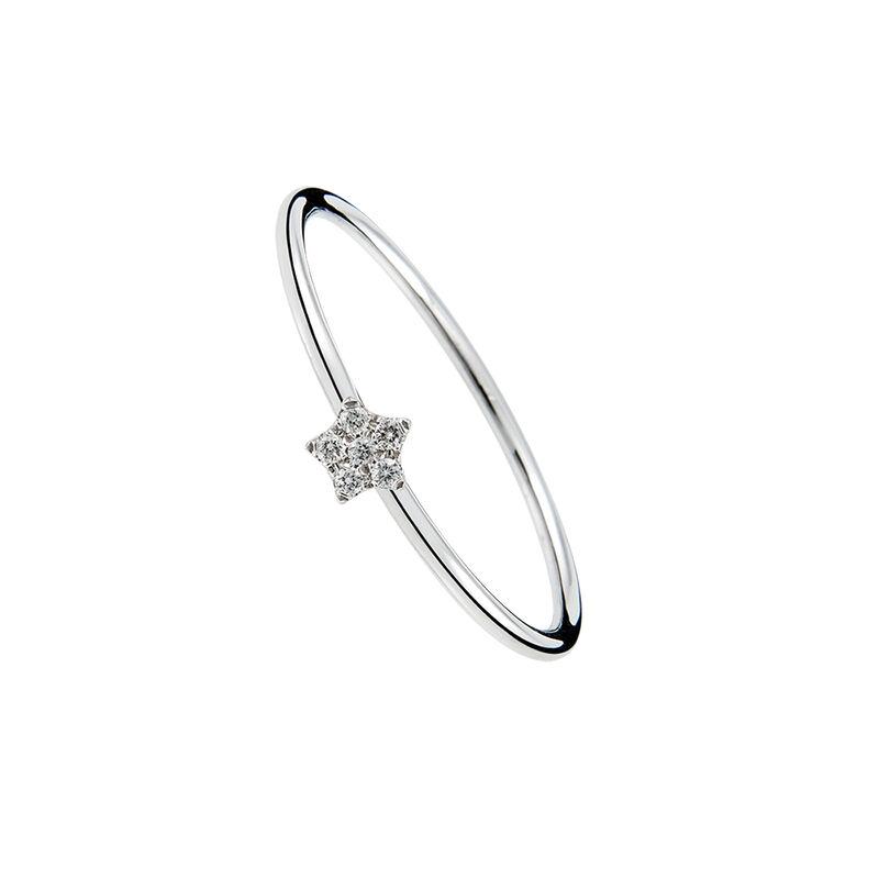 Anillo estrella oro diamantes 0,05 ct, J01347-01, hi-res