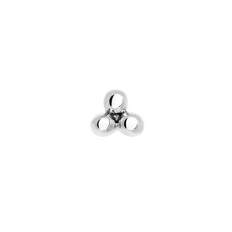 White gold earring piercing with three spheres, J03833-01-H, hi-res