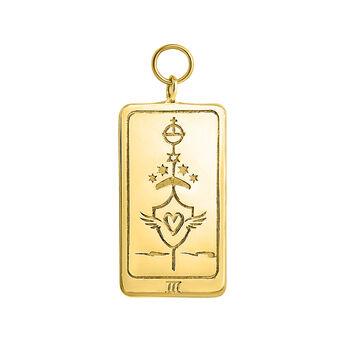 Gold L'Impératrice card pendant, J04040-02, hi-res