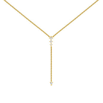 Gold topaz necklace with length detail, J03698-02-WT, hi-res