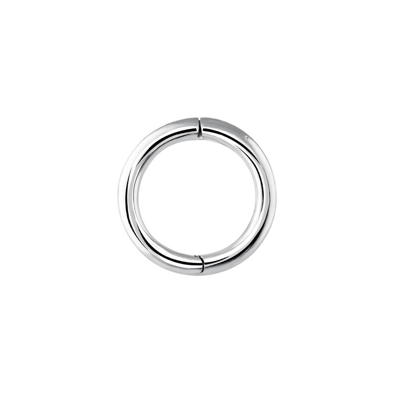Small white gold hoop earring piercing, J03842-01-H, hi-res