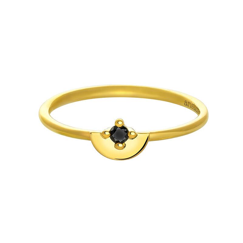 Anillo espinela semicírculo plata recubierta oro, J03742-02-BSN, hi-res