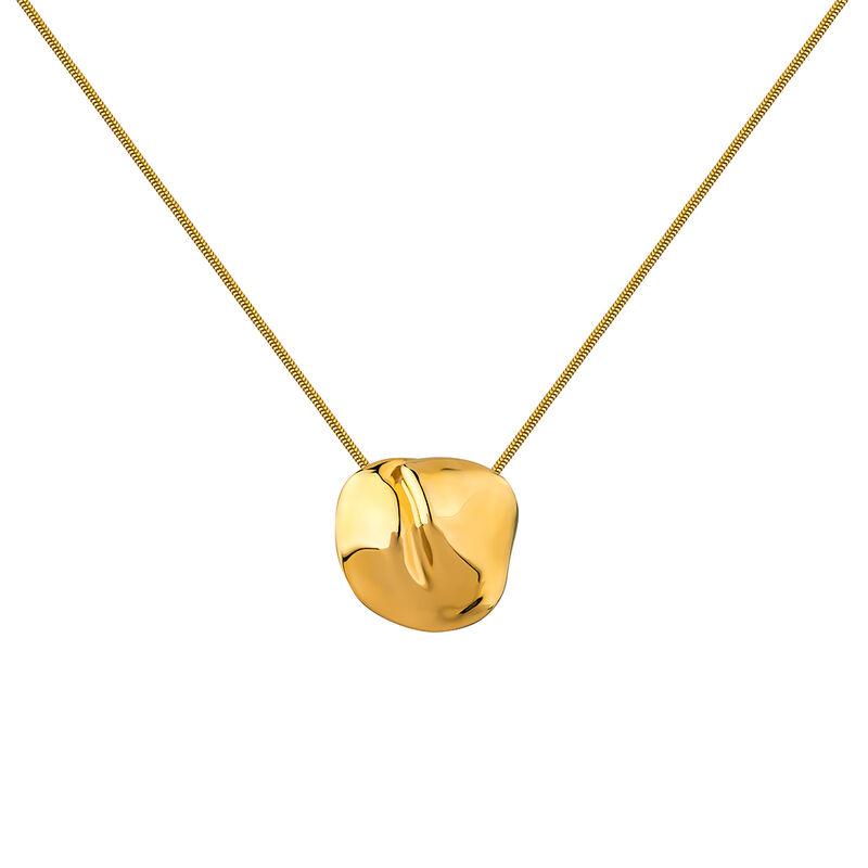 Gold plated petal motif necklace, J04386-02, hi-res