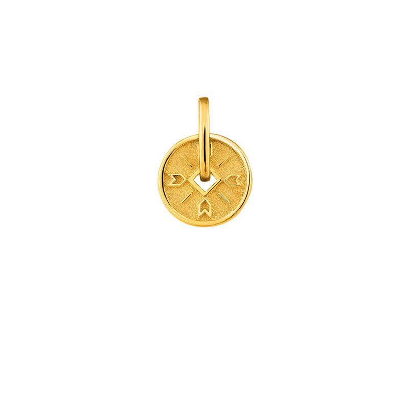 Colgante medalla flechas plata recubierta oro, J04283-02, hi-res