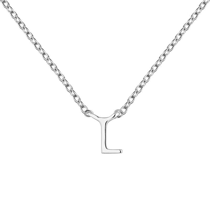White gold Initial L necklace, J04382-01-L, hi-res