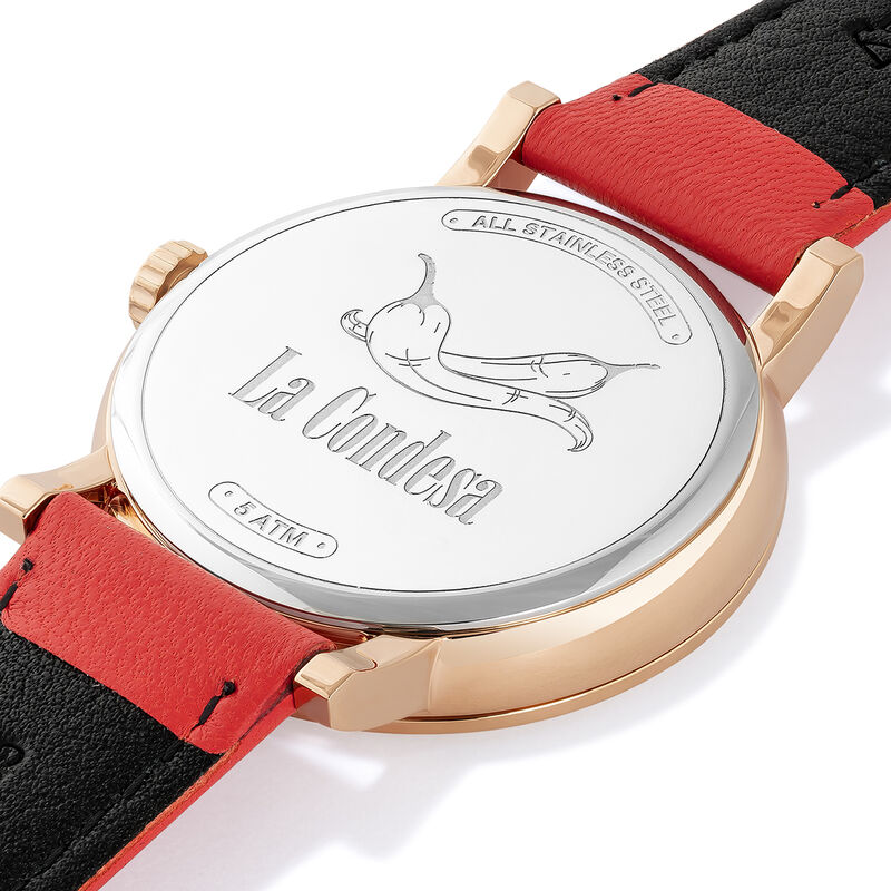 La Condesa watch coral strap, W54A-PKPKWP-LECO, hi-res
