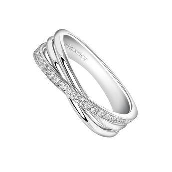 Anillo multibrazo pequeño plata, J03660-01-WT, hi-res