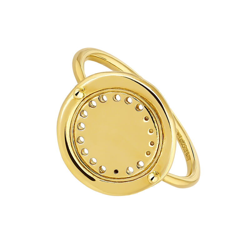 Large gold plated circle ethnic ring, J04449-02, hi-res