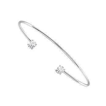 Silver topaz rigid bracelet, J03260-01-WT, hi-res