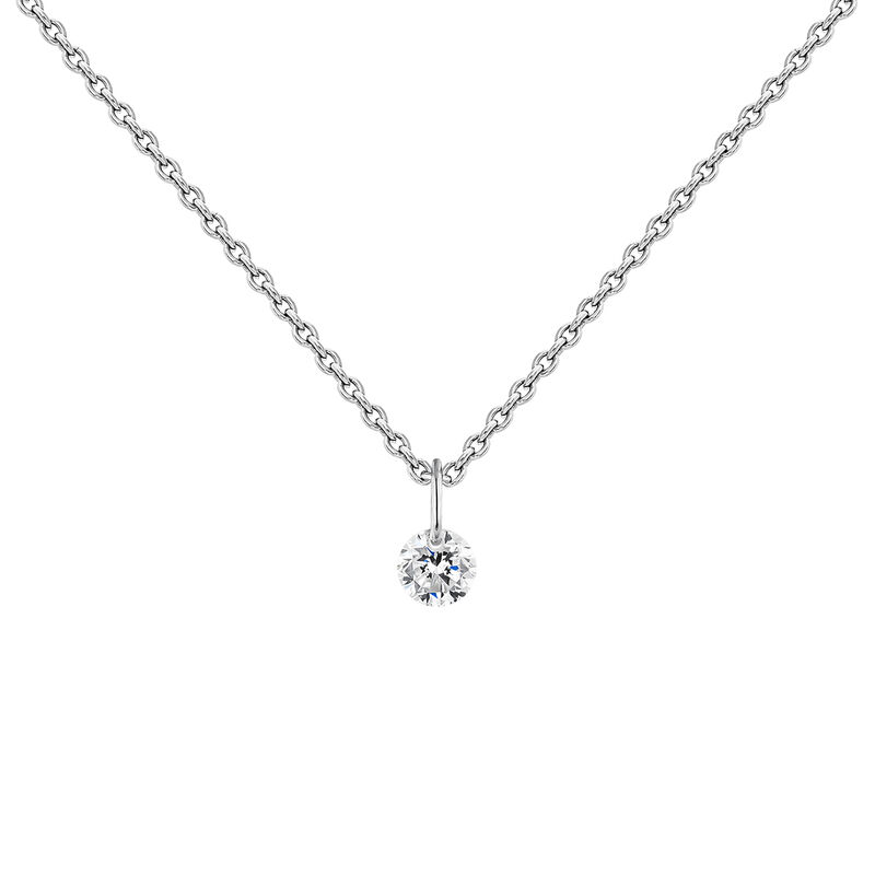 White gold diamond necklace, J04429-01, hi-res
