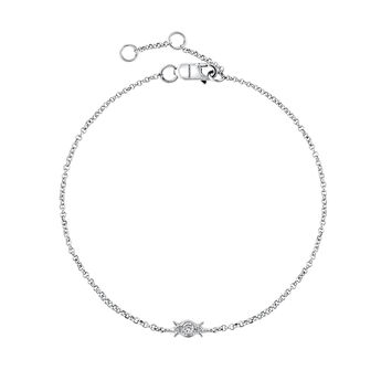 Bracelet 3 diamants or blanc 0,053 ct, J03392-01, hi-res