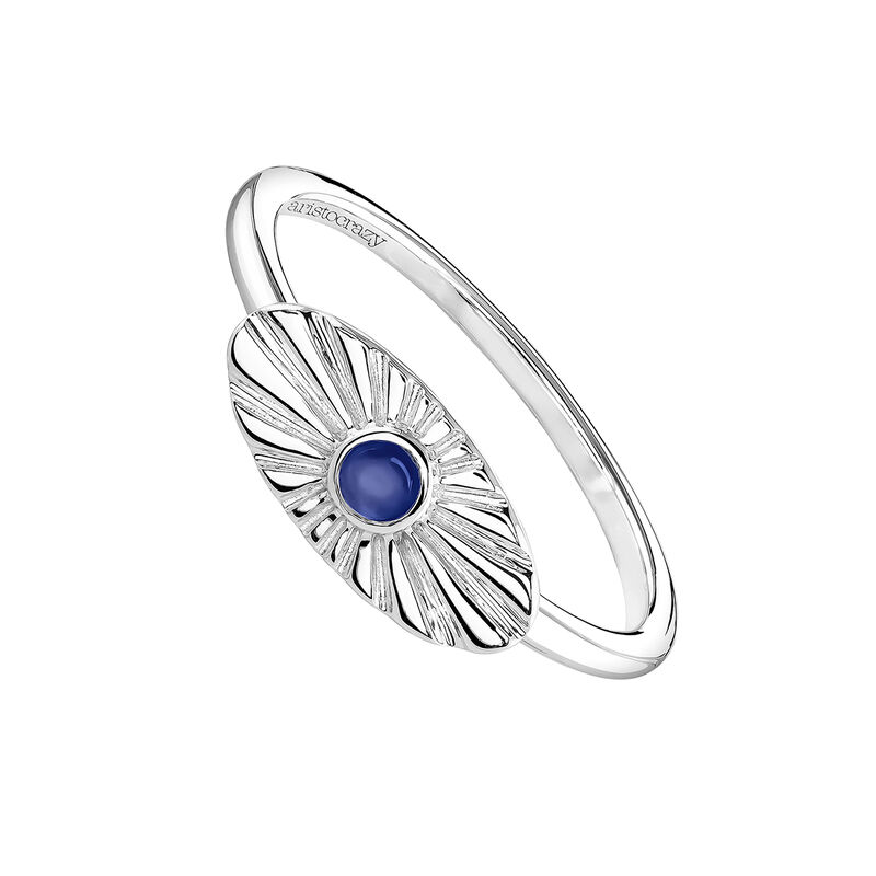 Oval silver ring with lapislazuli, J04134-01-LPS, hi-res