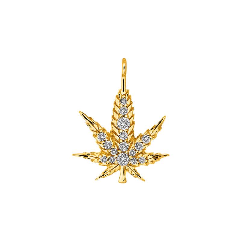 Colgante hoja de cáñamo oro, J03439-02-WT, hi-res