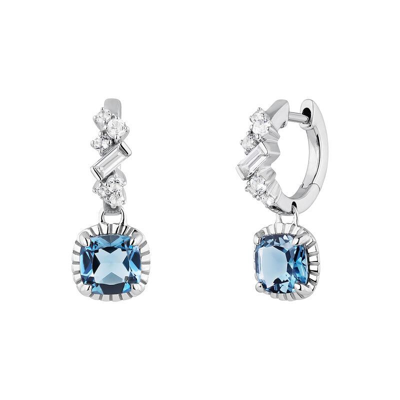 Silver topaz hoop earings, J04672-01-LB-WT, hi-res