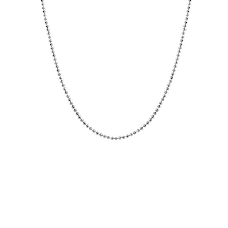 Short silver ball chain, J01474-01-45, hi-res