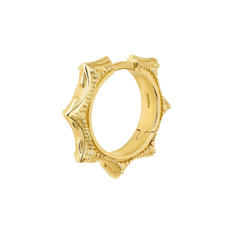 Boucles d'oreilles en or jaune de 9cts avec motif géométriques, J04528-02-H, hi-res